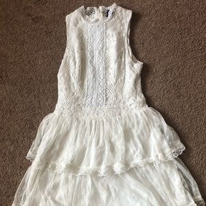 Kohl's White ruffly lace dress